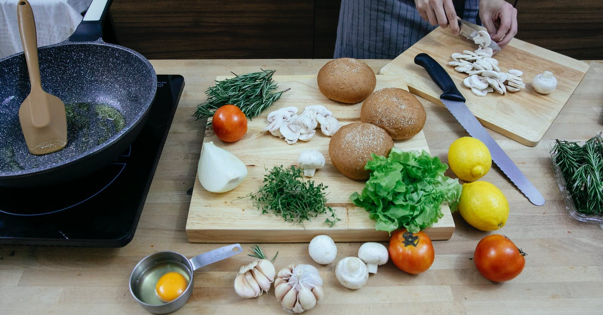 Food on a wooden cutting board